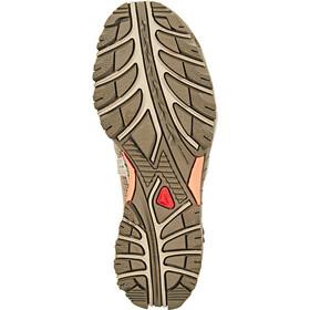 Salomon Techamphibian 3 Shoes Dame vintage kaki/bungee cord/living coral
